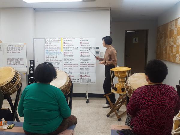 하반기 6주차 // 마을잔치 연습, 난타곡 반복 연습, 대형 맞춰 연습하기